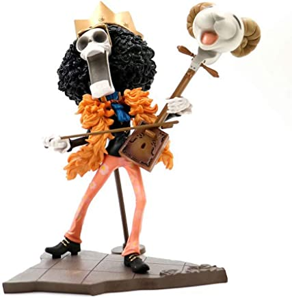 アニメワンピースモデル、PVC子供のおもちゃコレクション像、卓上装飾玩具像玩具モデルキャラクター彫刻、ブルック(25cm) JSFQ
