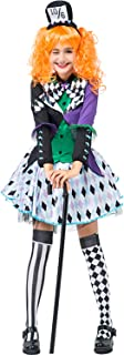 TEENAGE PAZZO Cappellaio Girl Costume taglia unica fino a 15 anni