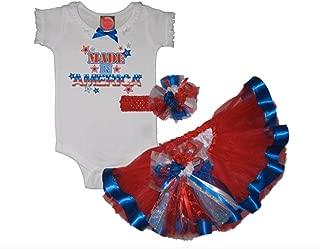Southern Wrag Company USA 4th Of July Sparkler Tutu Set Infant Thru 6X