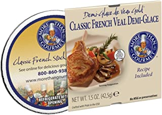 More Than Gourmet Demi-glace De Veau Gold, Classic French Veal Demi-glace, 1.5-Ounce Units (Pack of 6)