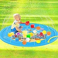 ❤ 【Cool Summer Happy】 Un grande game pad con un diametro di 170 cm può fornire spazio sufficiente per 3-4 bambini che giocano insieme o giocano con simpatici animali. Goditi l'estate fresca e felice fuori. ❤ 【Guida i tuoi figli ad imparare nel gioco】...