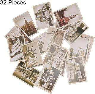 Shopline 32 Pieces Postcards Set, Vintage Retro Old Travel Postcards for Worth Collecting