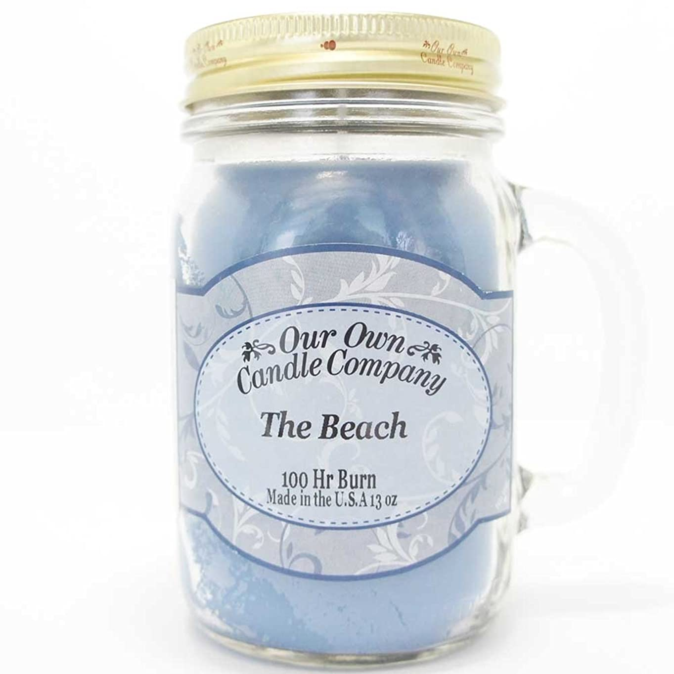 布合併症絶縁するOur Own Candle Company メイソンジャーキャンドル ラージサイズ ザ?ビーチ OU100119