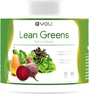 Yoli Lean Greens - Nutrient Boost - Contains 30 Different Vegetable and Fruits