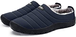 Mens Womens House Slippers Snow Winter Outdoor Indoor Anti-Slip Slippers