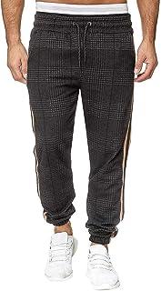 comprar comparacion Vectry Pantalones Hombre Empalmes Monos A Rayas Casual Bolsillo Deporte Pantalones Trabajo de Pantalón Casual Pantalones T...