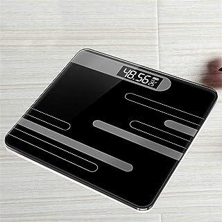 ZKYXZG Escala de peso Báscula corporal Grasa USB Báscula electrónica para el hogar Pantalla LCD Baño Piso Básculas de pesaje del cuerpo Básculas digitales de medición, línea negra
