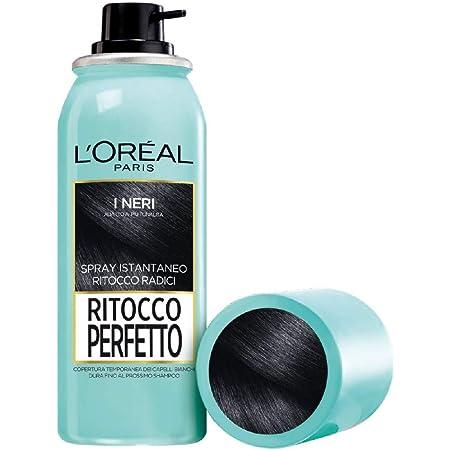 L'Oréal Paris Ritocco Perfetto, Spray Istantaneo Correttore per Radici e Capelli Bianchi, Colore: Nero, 75 ml