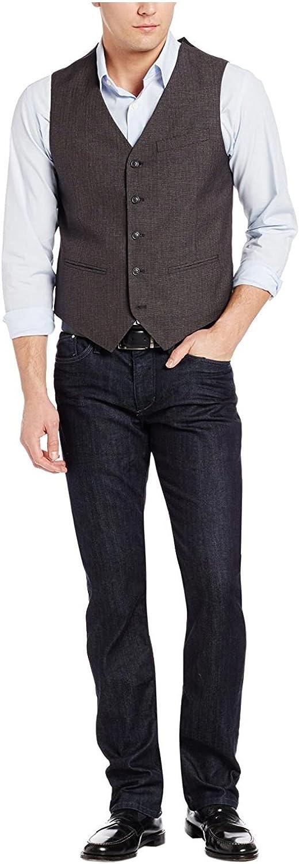 Perry Ellis Men's Big-Tall 5 Button Welt Pocket Vest Big and Tall
