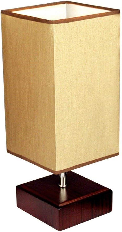 ZXWDIAN Tischlampe LED-Lampen Moderne minimalistische Holz Tischlampe Schreibtisch Leselampe Schlafzimmer Bedside Study Warm Dekoration Schreibtischlampe Leselampe (Farbe   A-Dimm-Schalter)
