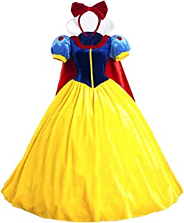Halloween Classic Deluxe Princess Costume Adult Queen Fairytale Dress Role Cosplay for Kids Adult