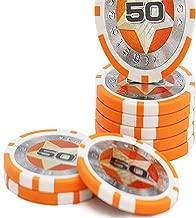 Zhou Yunshan Uego de póker de Casino Texas Hold'em Chip de Tarjeta Sala de ajedrez Dedicado Baccarat Mahjong viruta de la Moneda Pentagram 100 Piezas (Color : Multicolor, tamaño : Un tamaño)
