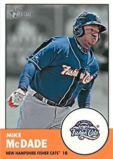 2012 Topps Heritage Minor League #137 Mike McDade New Hampshire Fisher Cats MLB Baseball Card NM-MT