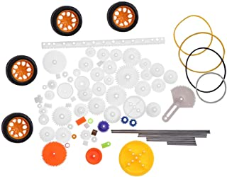 78 stuks plastic tandwiel kit, mini elektrische hobby tandwiel riem auger rack onderdelen set voor diy robot slimme auto m...