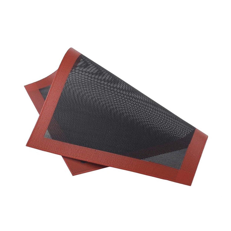 プラグ省略する桃Saikogoods クッキーパンビスケットのための実用的なデザインホームキッチンベーキングツールのシリコンベーキングマットノンスティックベーキングオーブンシートライナー 黒と赤 直角