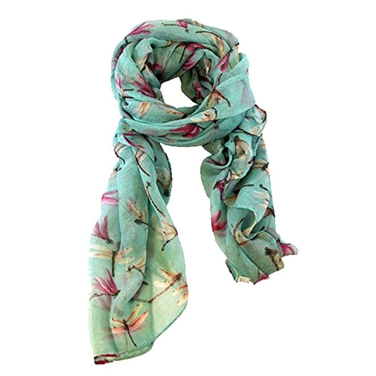 愛国的な毒柔らかいClearanceレディースキュートドラゴンフライ印刷スカーフラップショールソフトスカーフ 190*80cm/74.8*31.5