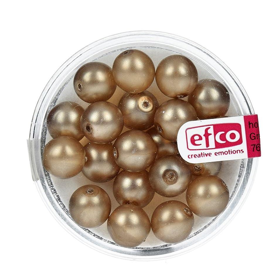 Efco Glass Wax Beads Luster matted 8 mm 20 pcs. Light Brown