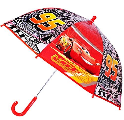 alles-meine.de GmbH Regenschirm -  Disney Cars - Auto Lightning McQueen  - Kinderschirm - leicht transparent Ø 73 cm - Kinder Stockschirm - durchsichtig - Schirm Kinderregensch..
