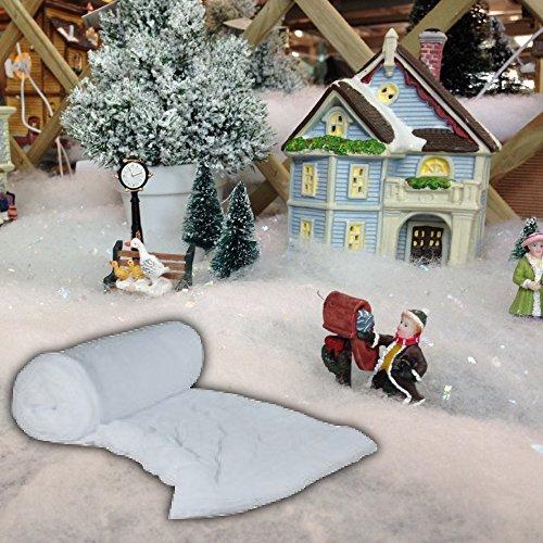 Pandoras Upholstery 10 Metre Roll Of Fake Snow - Christmas Santa Grotto