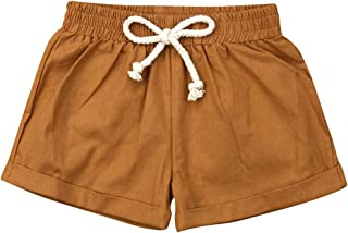 BULINGNA Baby Girl Boy Cotton Drawstring Shorts Harem Pants Joggers Elastic Waist Bottoms Bloomers