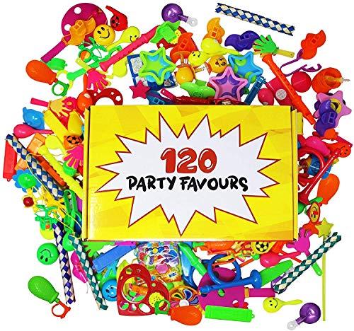 THE TWIDDLERS 120 Kinder Party Spielzeug Mitgebsel in Einer Box für Jungen & Mädchen| Weihnachten Halloween Kindergeburtstag Gastgeschenke, Pinata, Mitbringsel, Give Aways.