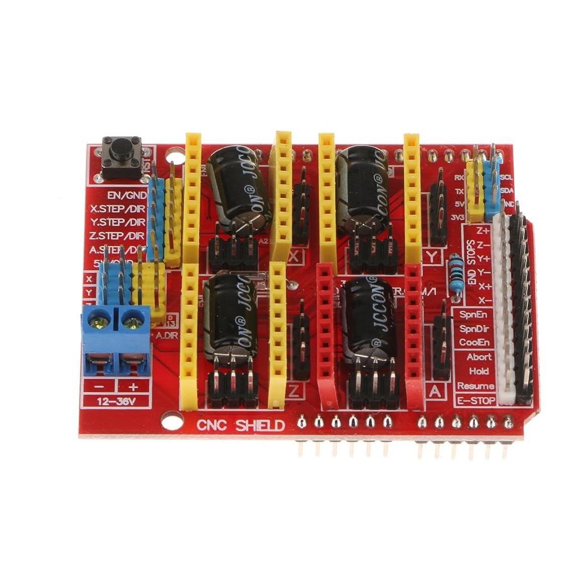 多様体開業医絶滅したgazechimp Arduino 3Dプリンター用 拡張ボード CNCシールド V3.0 A4988 ドライバー ボード 小型 軽量