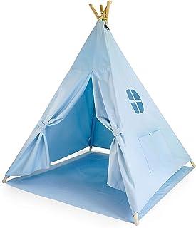 Hej Lønne 592 barntipi, ljusblått tält, ca 120 x 150 cm, lektält med golvtak och fönster, inklusive påse och instruktione...