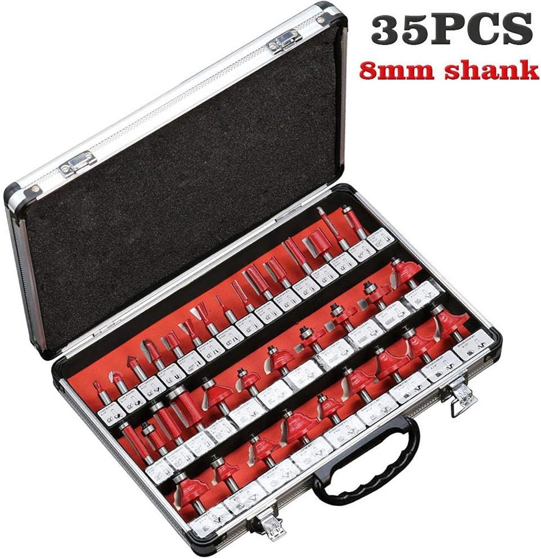 35 STÜCKE Professionelle Qualität Fräser Set Hartmetall 8mm Fräser für Holzbearbeitungswerkzeuge Schaftfräser für Holzschneidwerkzeuge B07M8WF3V6   Vorzüglich