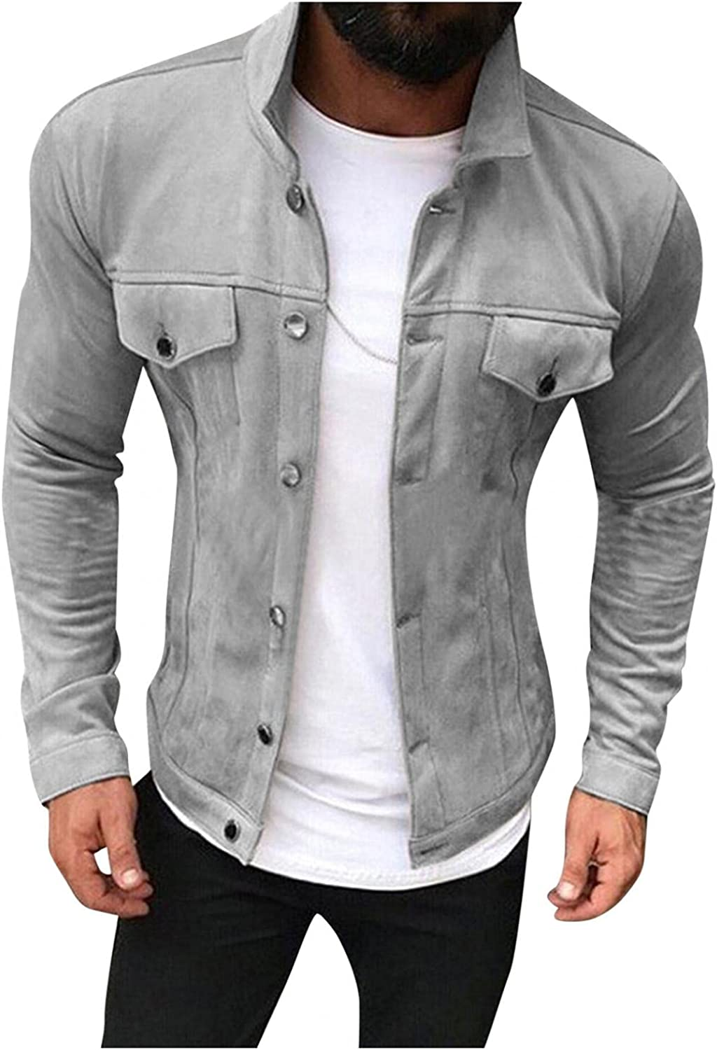 Huangse Men's Autumn And Winter Jackets Military Cargo Bomber Working Jackets with Multi Pockets Warm Coats