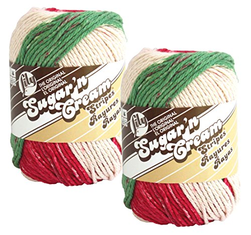 Bulk Buy: Lily Sugarn Cream Stripes (2-pack) (Holiday)