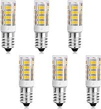 MD Lighting E14 LED Bulb 4W(6 Pack), 4000K Natural White 400LM Ceramic E14 Light Bulb, E14 European Base, Not Dimmable, AC...