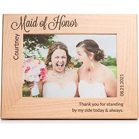 Best Friend Gift Bridesmaid Maid Of Honor Matron Of Honor Gift Wedding Bridal Party Personalized Picture Frame