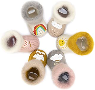 Adorel, Calcetines Termicos de Felpa para Bebé Niña Lote de 6