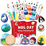 Shuttle Art Rock Painting Kit, Rock Painting Arts and Crafts Supplies for Kids Outdoor Activity Holiday Decoration, Great Gift for Boys Girls Painting Rocks