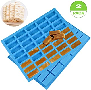 YAWOOYA Rectangle 40 Cavities Silicone Molds for Sugar/Caramel/Yogurt Sugar/Chocolate Truffles/Nougat/Jelly/Candy/Praline/Ice Cube Tray/Random Color