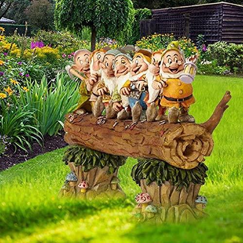 Kreativer süßer Zwerg-Zwerg aus Kunstharz, handgefertigt, sieben Zwergbäume, Dekoration für den Garten, Zuhause, Büro, Vatertag, das beste Geschenk