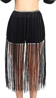 Women's Fringe Belt Skirt Fashion Long Tassel Waist Belt Chain Adjusted Fringe Skirt Decoration for Waistline:24-29 inch