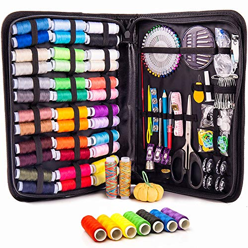 Premium Sewing KIT for Adults - 38 XL Color Threads, Easy-to-Use Sewing Supplies, a Complete Needle & Thread Kit for Small Fixes at Home & On-The-Go, Beginners Sewing Thread Kit for Emergency Repairs