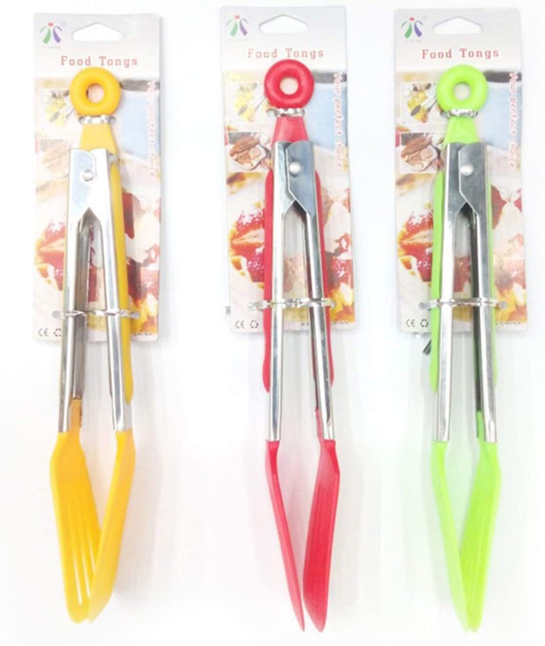A surprise price is realized YSJJSQZ Kitchen Tongs New Silicone BBQ Stainless Opening large release sale Tong Steel Food