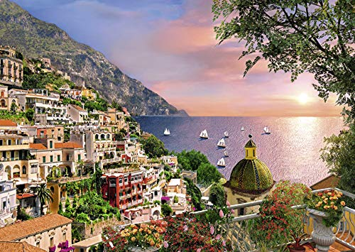 Ravensburger - Dominic Davidson - Positano Large Format 500 Piece Jigsaw Puzzle for Adults - Every Piece is Unique, Softclick Technology Means Pieces Fit Together Perfectly