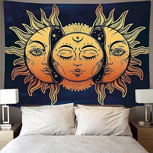 J TOHLO Tapiz Tarot de Pared Psicodélico Tapiz de Mandala Indian Mandala Tapestry Todas las decoraciones artísticas de pared para apartamentos, hogar, dormitorios, tapices,150*130CM