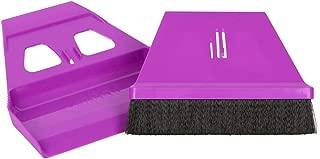 miniWISP Small Broom and Dustpan Set The Best Mini Hand Broom with Electrostatic Bristle Seal Technology (Purple)