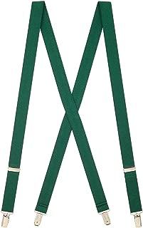 SuspenderStore Men's Solid Color Suspenders - 1-Inch Wide CLIP (X-Back)