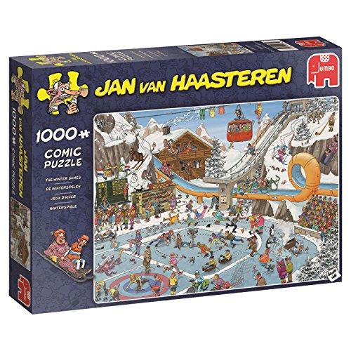 Jumbo Spiele GmbH JUM19065 Puzzle: Die Winterspiele (Van Haasteren) (1000 Teile), Mehrfarbig