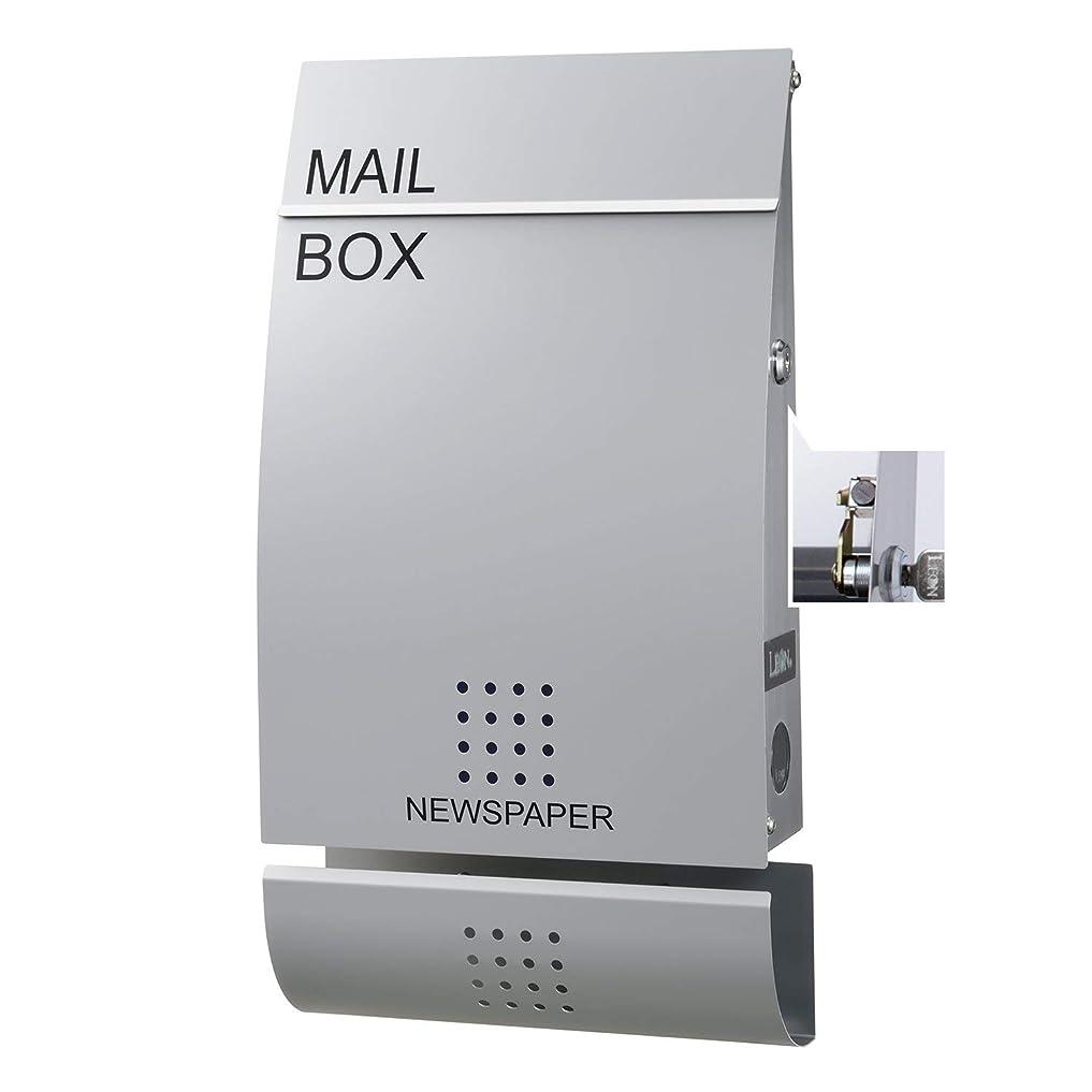 複数車両哲学博士LEON (レオン) 郵便ポスト mail box デザイナーズ ポスト MB4502 ステンレス (マグネット付き) シルバー