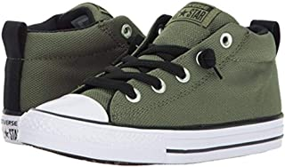 Converse Kids Chuck Taylor All Star Street Basket Weave Mid Medium Olive/Black/White