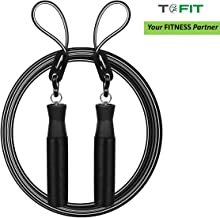 TOFIT Adjustable Jumping Rope Skipping Rope for Men Women Kids for Weight Loss Tangle Free Cardio Workout Skipping Rope for Crossfit Boxing MMA and HIIT Workouts