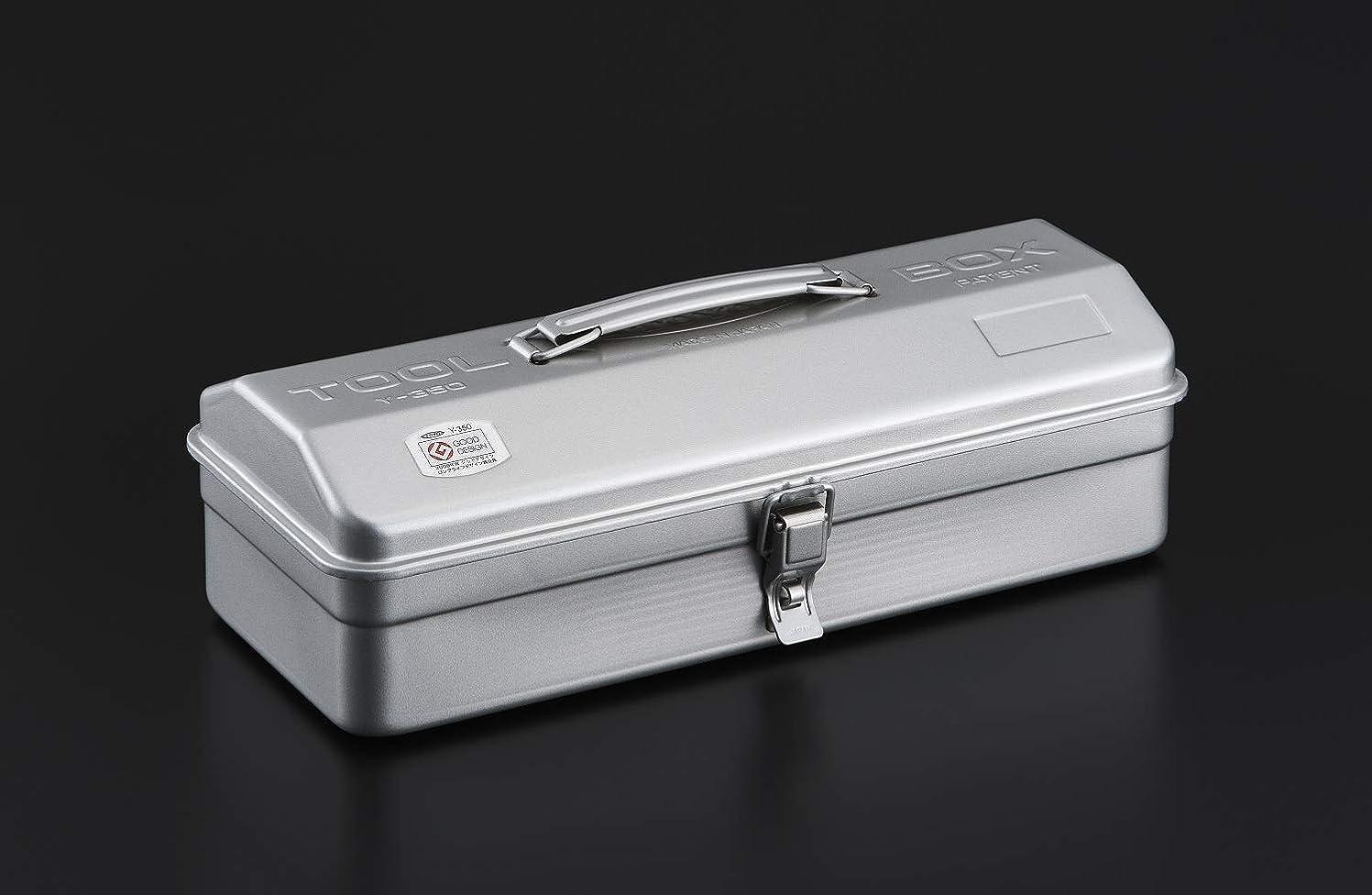カスタムペパーミント同性愛者TOYO スチール製 山型工具箱 Y-350 シルバー
