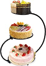 Cake Dessert Stand 3 Tier Iron Cake Stand 60cm Height Wedding Birthday Party Display Decor For Afternoon Tea Birthday Party