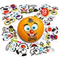 "ArtCreativity Halloween Pumpkin Decorating Stickers - 12 Sheets - Jack-o-Lantern Decoration Kit - 26 Total Face Stickers - Cute Halloween Decor Idea - Treats, Gifts, and Crafts for Kids- 3"" x 5"" from ArtCreativity"
